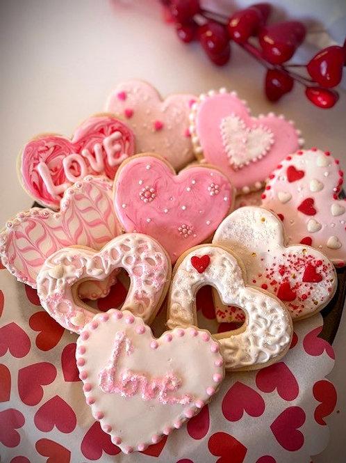 Valentines Cookies - Large