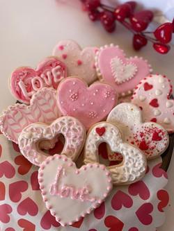 Tickled Pink Valentine Cookie