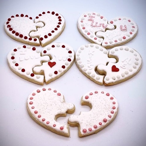 Puzzle Heart Cookie