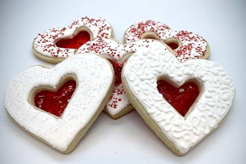Stained Glass Heart Cookie