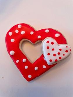 Double Heart Valentine Cookie