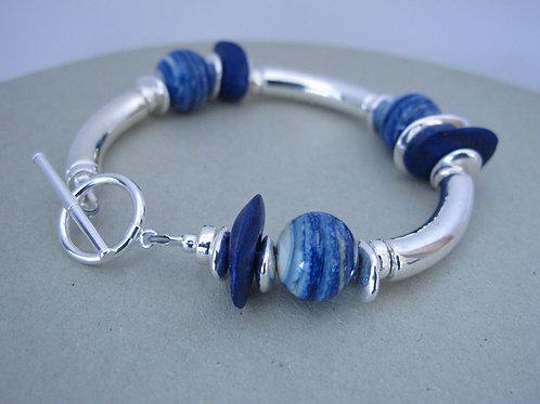 A Gaelo made Ceramic Silver Bracelet