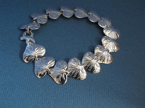 Silver Lily Leaf bracelet