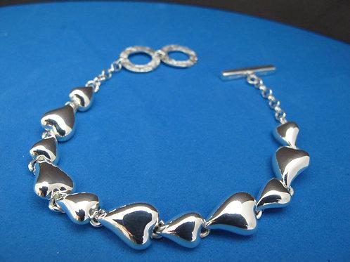 Chris Lewis Hearts Bracelet; solid silver
