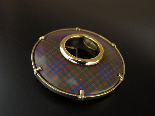 Clan McDonald Tartan Brooch