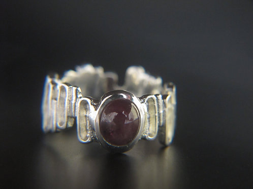 Silver + Star sapphire Ring
