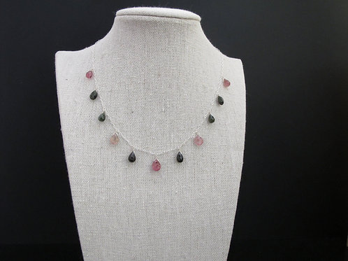 Silver and Tourmaline Necklace