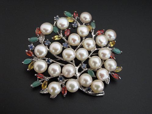 Pearl 'Tree' Brooch