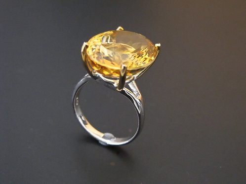 Citrine & Silver Ring