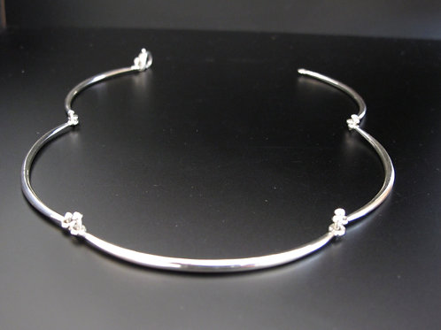 Solid Silver 5 Section hinged necklace
