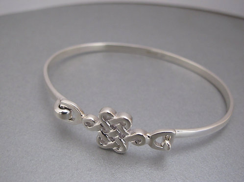 Celtic knot solid silver Bangle
