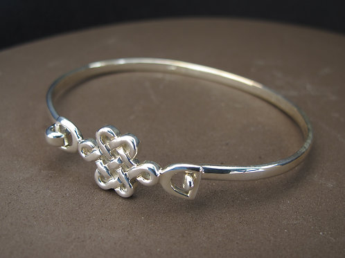 Celtic style solid silver bangle