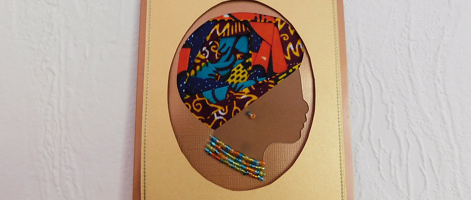 Colourful african woman