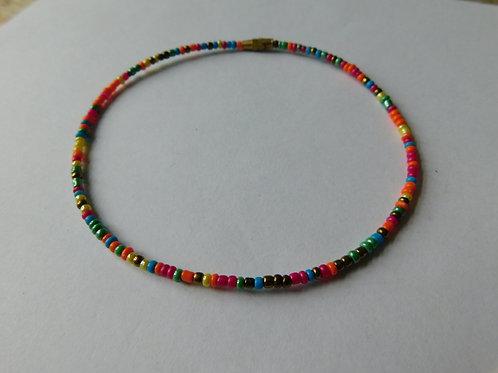 Enkelbandje (regenboog glans)