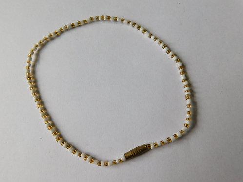Enkelbandje (goud/wit)
