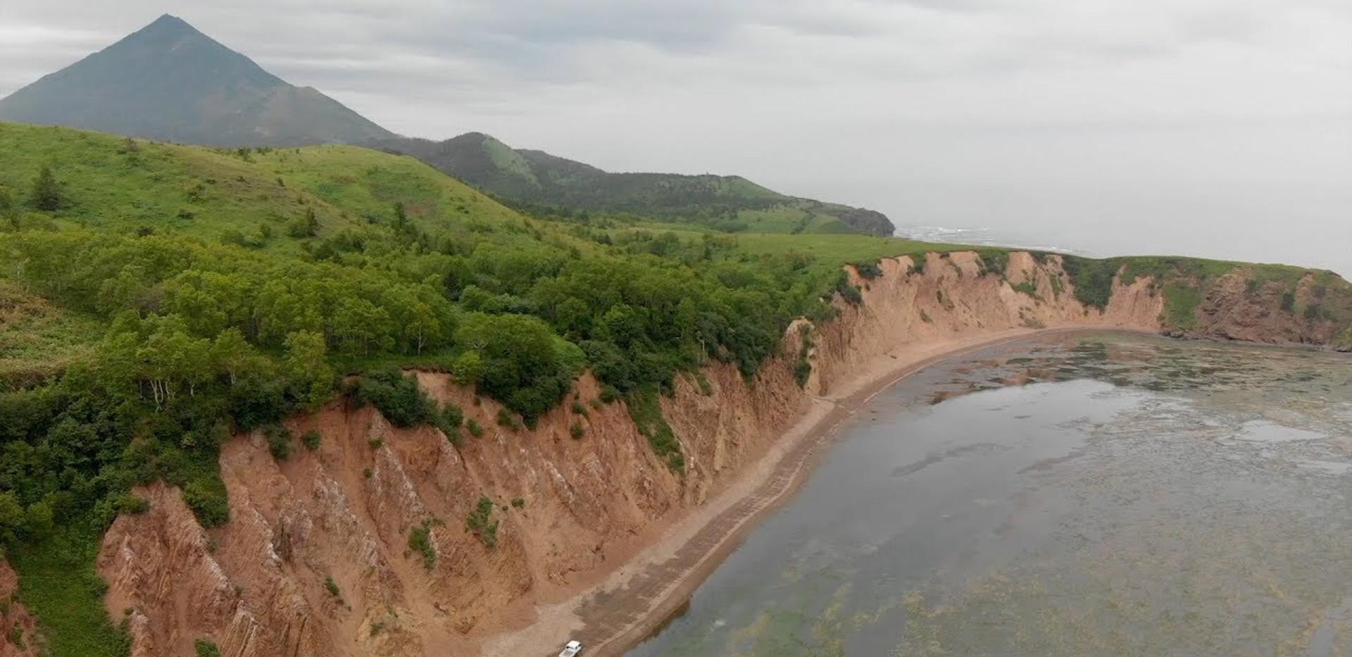 Сахалин 2018 бухта Тихая, чертов мост