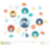 social-media-background-people-connectin