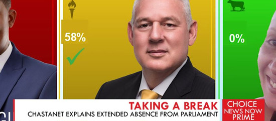 CHASTANET EXPLAINS EXTENDED ABSENCE FROM PARLIAMENT