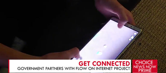 GOVERNMENT PARTNERS WITH FLOW FOR CONNECTIVITY PROJECT