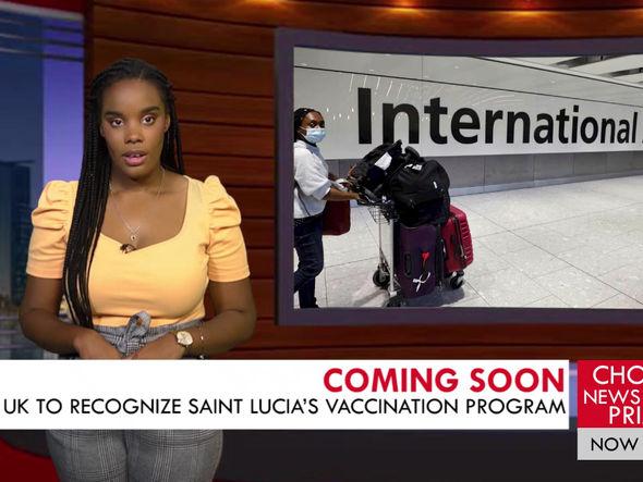 UK TO RECOGNIZE SAINT LUCIA'S VACCINATION PROGRAM