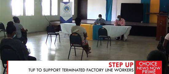 TUF TO SUPPORT TERMINATED FACTORY LINE WORKERS