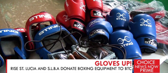 RISE ST. LUCIA AND S.L.B.A DONATE BOXING EQUIPMENT TO BTC