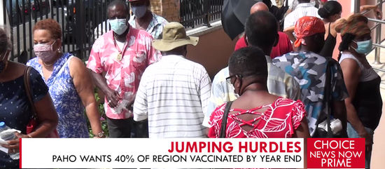 PAHO WANTS 40% OF REGION VACCINATED BY YEAR-END