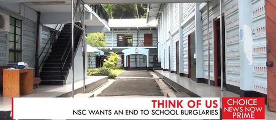 NSC WANTS AN END TO SCHOOL BURGLARIES