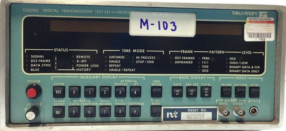 Tau-Tron S5200D Digital Transmission Test Set (Transmitter) Sold AS IS No Return