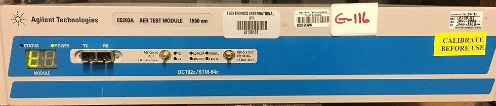 Agilent E5203A OC-192c/STM-64c BER Test Module (1550nm)
