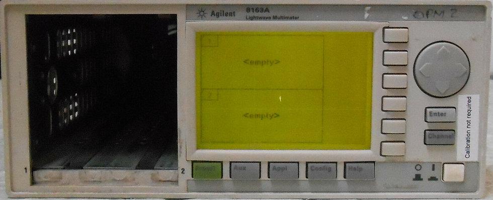 Agilent 8163A Mainframe meter