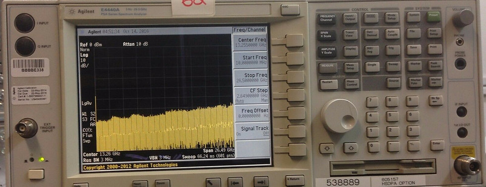 Agilent E4440A PSA Spectrum Analyzer, 3 Hz-26.5GHz w opt. B7J,HSDPA ,202,210,BFA