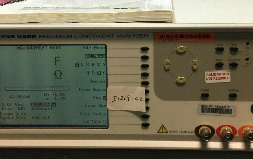 Wayne Kerr 6440A Precision Component Analyzer WITH  Q42