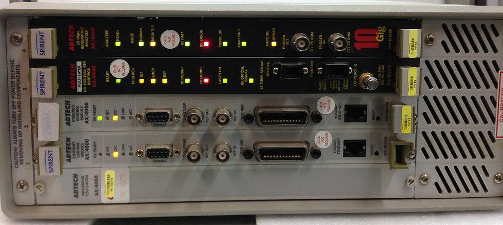 Spirent Adtech AX 4000 Broadband Test System w/  2x 401428  /403103 / 403100