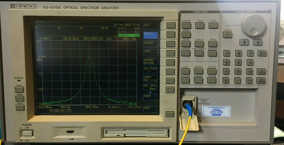 Ando AQ6315E Optical Spectrum Analyzer OSA calibrated 350-1750nm