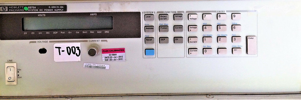 HP 6675A System DC Power Supply