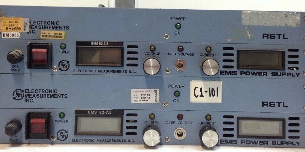 EMI EMS 80-7.5 RSTL DC Power Supply, 0-80V Sold as 2
