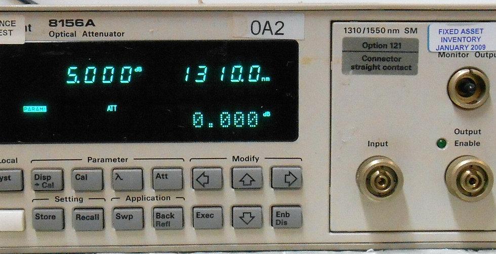 HP 8156A Optical Attenunator Option 121