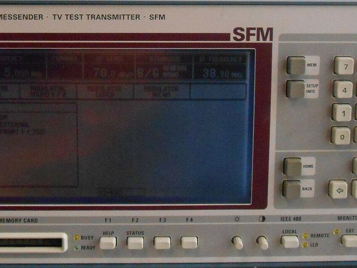 Rohde & Schwarz SFM TV Tester w 2007.9106.50