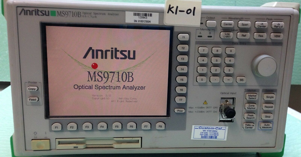Anritsu MS9710B Optical Spectrum Analyzer opt 13