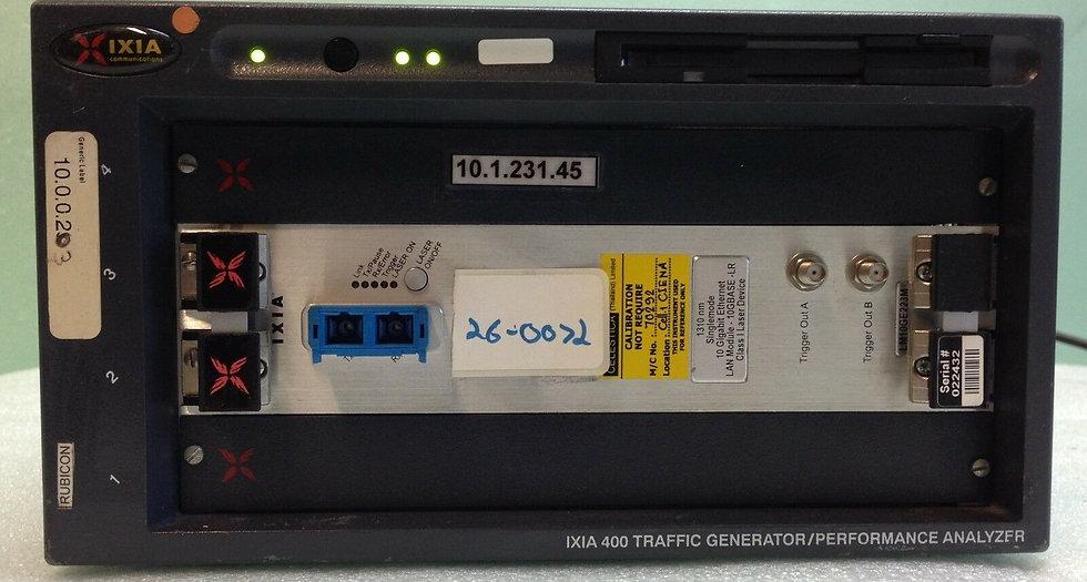 IXIA 400 Traffic Generator w/  LM10GE223M Module