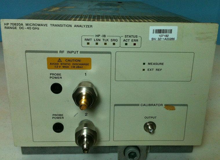 HP 70820A MICROWAVE TRANSITION ANALYZER RANGE DC-40 GHz