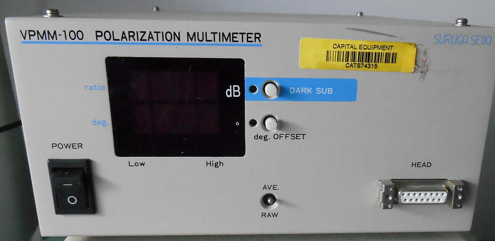 Suruga Seiki VPMM-100 Polarization Extinction Ratio Meter Monitor Multimeter