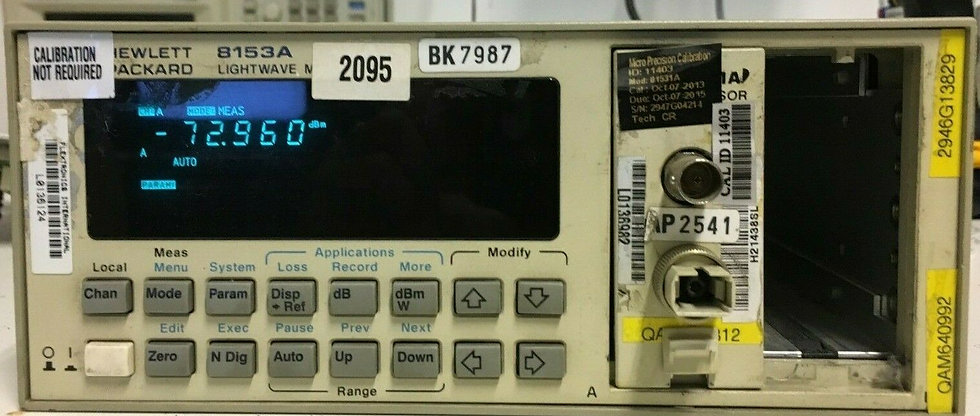 Agilent HP 8153A LightWave Multimeter