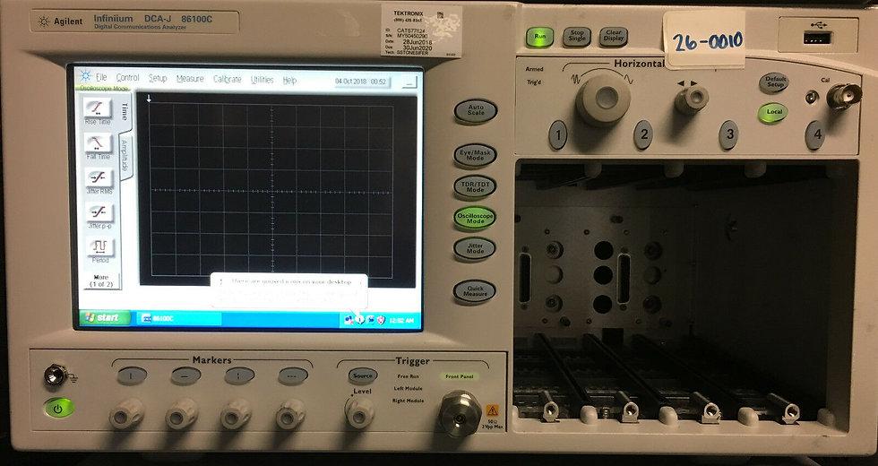 Agilent 86100C Infiniium DCA Oscilloscope Mainframe w 092,701