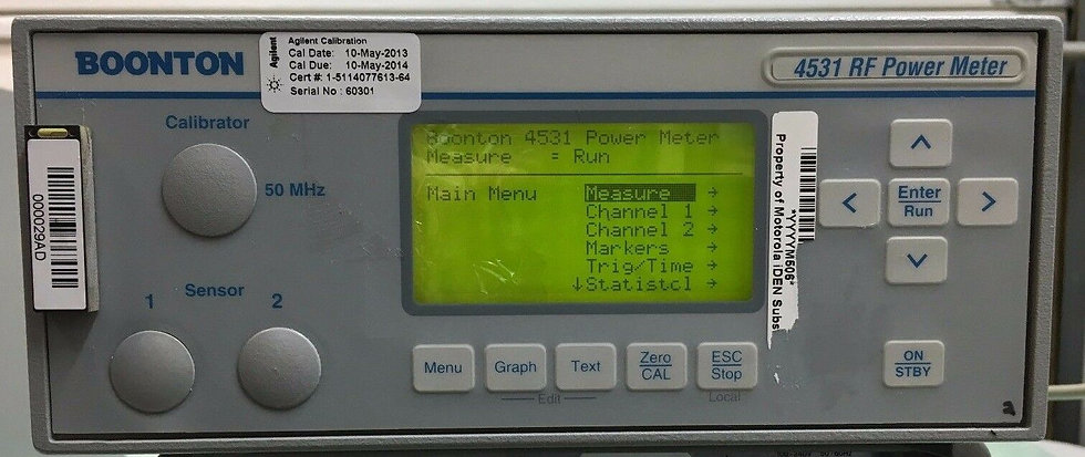 Boonton 4531 OPTIONS 1,2,30 Single Channel RF Power Meter Systemo