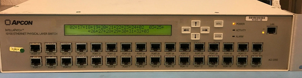 Apcon IntellaPatch 32-Port Intelligent Fiber Optic Patch Panel ACI-2050-C32