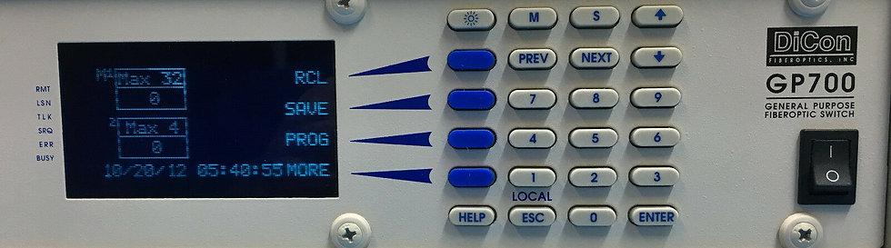 DiCon GP700 Programmable Fiber Multi Switch (1x32) +(1X4)