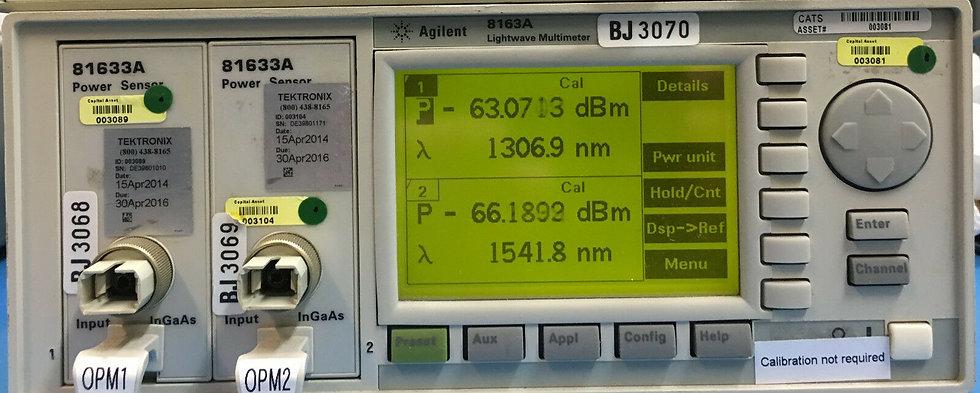 Agilent / HP 8163A / 2X 81633A