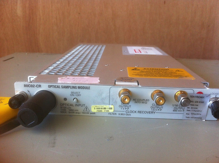 TEKTRONIX 80C02/CR SAMPLING MODULE, 30 GHZ, WITH CLOCK RECOVERY